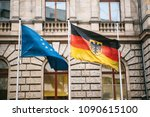 flag of germany and the... | Shutterstock . vector #1090615100