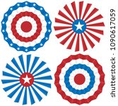 bunting for july 4 and other... | Shutterstock .eps vector #1090617059