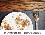 white ceramic plate with... | Shutterstock . vector #1090620098