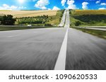 asphalt countryside road with... | Shutterstock . vector #1090620533
