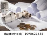 thermostatic head valve for... | Shutterstock . vector #1090621658