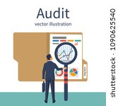 auditing concepts. auditor with ... | Shutterstock .eps vector #1090625540