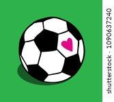 i love soccer  football ball... | Shutterstock .eps vector #1090637240