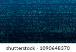a stream of binary matrix code... | Shutterstock .eps vector #1090648370