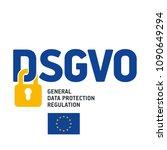 gdpr general data protection... | Shutterstock .eps vector #1090649294