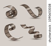 film strip roll. cinema tape...   Shutterstock .eps vector #1090653038