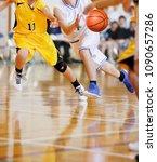 basketball game venue | Shutterstock . vector #1090657286