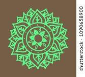flower mandala. vintage... | Shutterstock .eps vector #1090658900