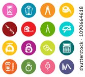 measure precision icons set... | Shutterstock .eps vector #1090664618