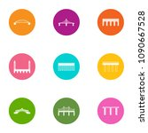bridge and overpass icons set.... | Shutterstock .eps vector #1090667528
