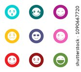 feeling icons set. flat set of... | Shutterstock .eps vector #1090667720