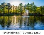 pond spring forest   Shutterstock . vector #1090671260
