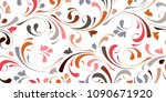 floral seamless background for... | Shutterstock .eps vector #1090671920