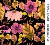 watercolor seamless pattern... | Shutterstock . vector #1090674386