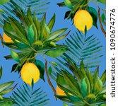 watercolor seamless pattern... | Shutterstock . vector #1090674776