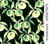 watercolor seamless pattern... | Shutterstock . vector #1090675673