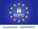 rgpd is gdpr  general data... | Shutterstock .eps vector #1090678070