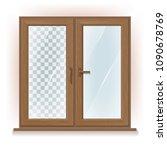 vector photo realistic wooden... | Shutterstock .eps vector #1090678769
