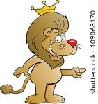 Cartoon Illustration Of A Lion...