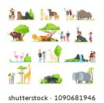 happy families  kids with... | Shutterstock .eps vector #1090681946