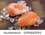 set of 2 tumbled carnelian.... | Shutterstock . vector #1090683593
