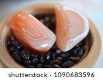 set of 2 tumbled carnelian.... | Shutterstock . vector #1090683596