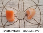 set of 2 tumbled carnelian.... | Shutterstock . vector #1090683599