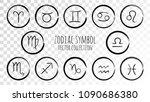 black zodiac symbols vector set ... | Shutterstock .eps vector #1090686380