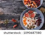 rice coconut porridge with figs ... | Shutterstock . vector #1090687580