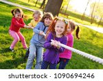 a group of small preschool... | Shutterstock . vector #1090694246