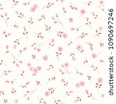 seamless floral background with ... | Shutterstock .eps vector #1090697246