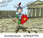 cartoon roman legionary... | Shutterstock .eps vector #109069793