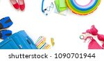 traveler accessories for women... | Shutterstock . vector #1090701944