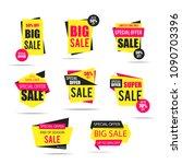 sale banner set  tag  label ... | Shutterstock .eps vector #1090703396