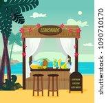 market store sale lemonade on... | Shutterstock .eps vector #1090710170