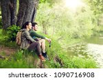 travel  hiking  backpacking ... | Shutterstock . vector #1090716908