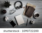 still life  business and... | Shutterstock . vector #1090722200