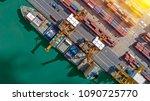 logistics and transportation of ... | Shutterstock . vector #1090725770