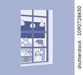 indoor of restaurant viewed... | Shutterstock .eps vector #1090728650