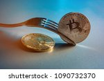 bitcoin getting new hard fork... | Shutterstock . vector #1090732370