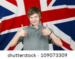 Young British Boy With Thumbs...