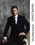 portrait of a handsome man in... | Shutterstock . vector #1090736990