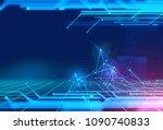 programming code abstract... | Shutterstock . vector #1090740833