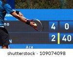 a tennis player prepares to...   Shutterstock . vector #109074098