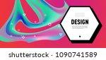 color  liquid  flow  fluid  art ... | Shutterstock .eps vector #1090741589