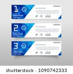 set of infographic banner with... | Shutterstock .eps vector #1090742333
