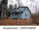 abandoned house in the woods.   ... | Shutterstock . vector #1090748840