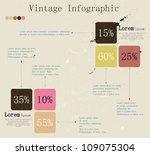 vintage infographic. vector... | Shutterstock .eps vector #109075304