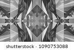white and black kaleidoscope...   Shutterstock . vector #1090753088