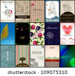 set of vintage vector cards.... | Shutterstock .eps vector #109075310